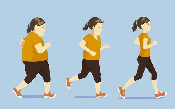 Học sinh đi bộ giảm cân cấp tốc